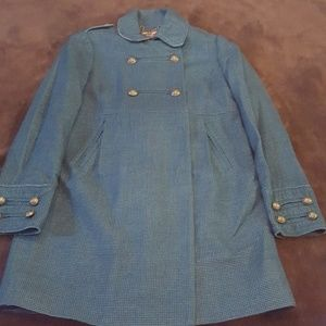 Juicy Couture wool blend blue trench, M